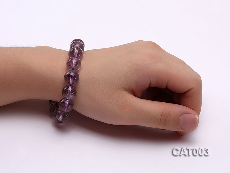 12mm Round Ametrine Beads elasticated Bracelet big Image 4