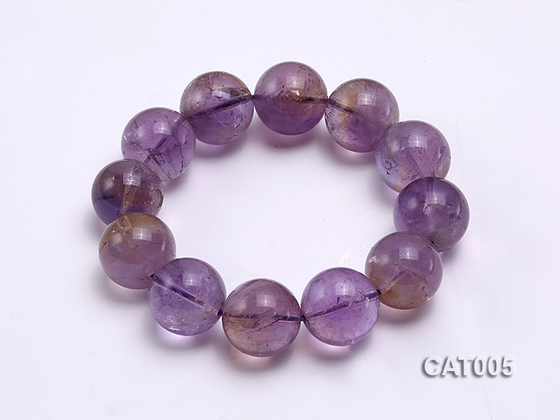 16mm Round Ametrine Beads elasticated Bracelet big Image 1