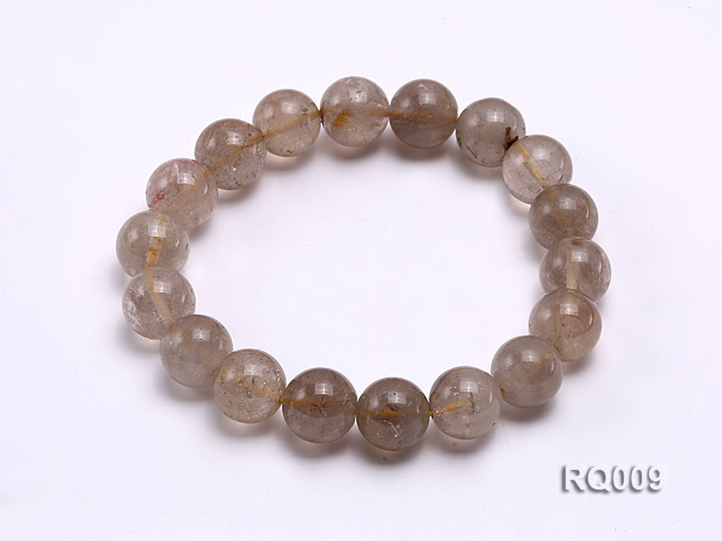 11mm Rutilated Quartz Beads Elastic Bracelet big Image 5