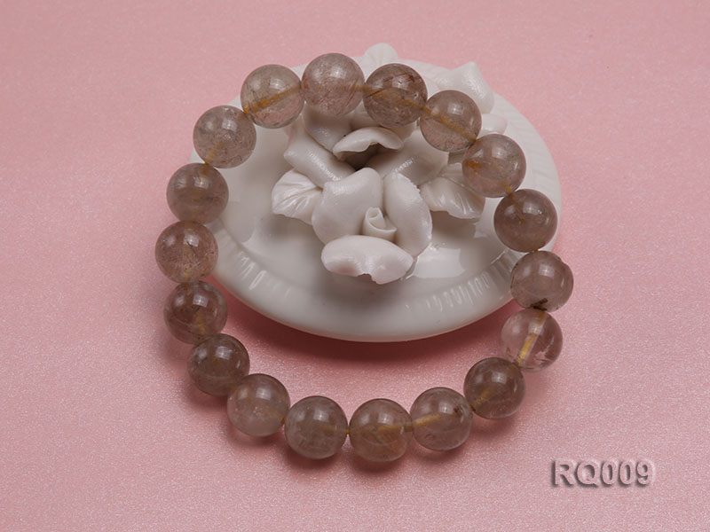 11mm Rutilated Quartz Beads Elastic Bracelet big Image 2