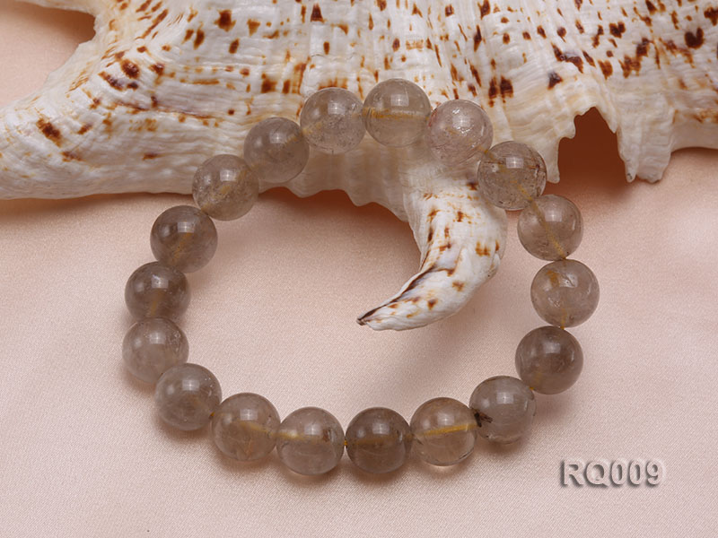 11mm Rutilated Quartz Beads Elastic Bracelet big Image 3