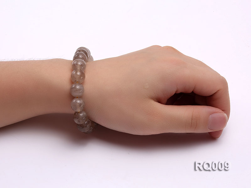 11mm Rutilated Quartz Beads Elastic Bracelet big Image 4