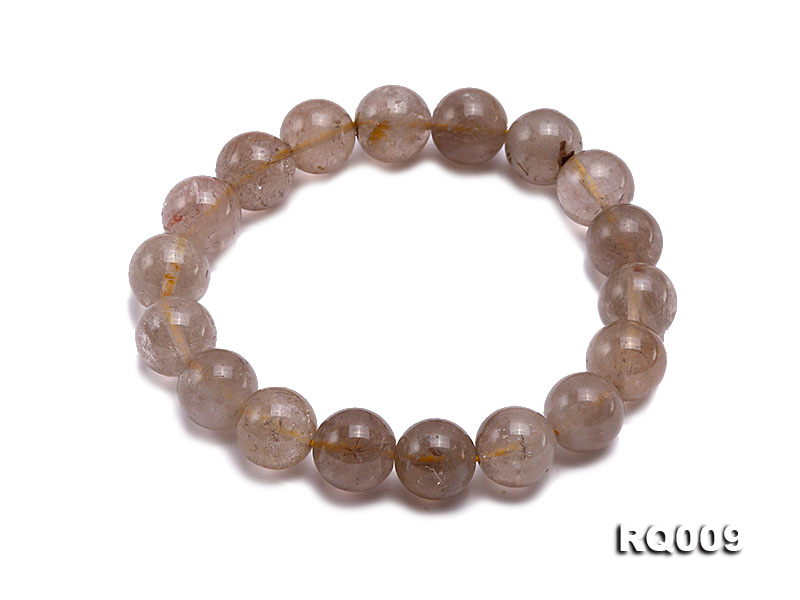 11mm Rutilated Quartz Beads Elastic Bracelet big Image 1