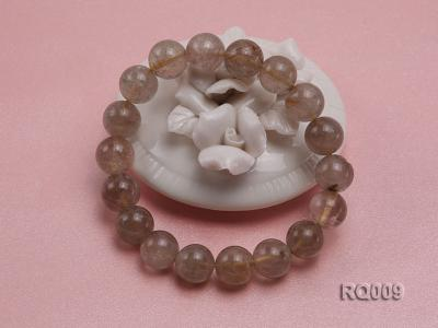 11mm Rutilated Quartz Beads Elastic Bracelet RQ009 Image 2