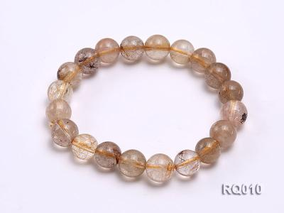 10mm Rutilated Quartz Beads Elastic Bracelet RQ010 Image 5