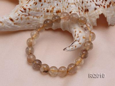 10mm Rutilated Quartz Beads Elastic Bracelet RQ010 Image 3