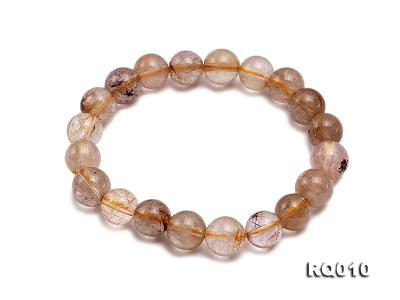 10mm Rutilated Quartz Beads Elastic Bracelet RQ010 Image 1