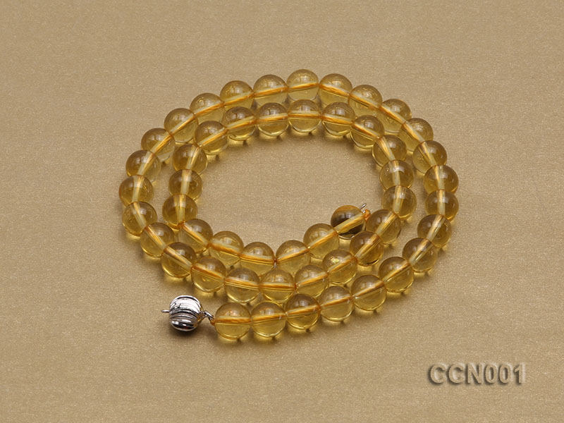 8mm Round Citrine Beads Necklace big Image 4