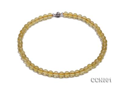 8mm Round Citrine Beads Necklace CCN001 Image 1