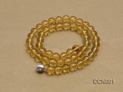 8mm Round Citrine Beads Necklace CCN001 Image 4