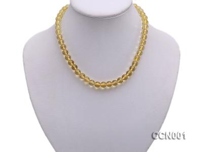 8mm Round Citrine Beads Necklace CCN001 Image 5