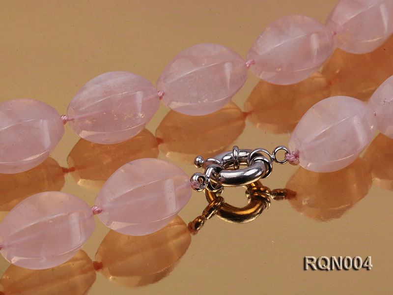 15x22mm Irregular Rose Quartz Beads Necklace big Image 2