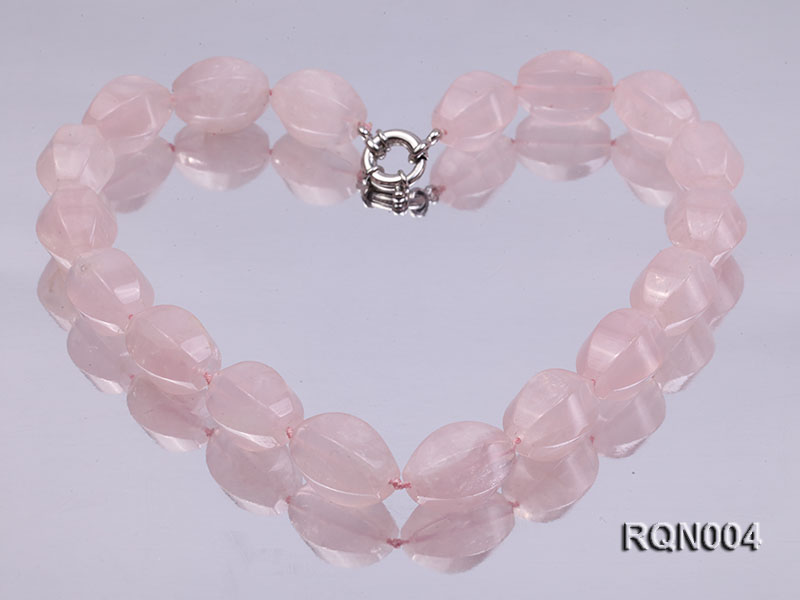 15x22mm Irregular Rose Quartz Beads Necklace big Image 1