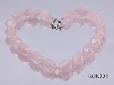 15x22mm Irregular Rose Quartz Beads Necklace RQN004 Image 1