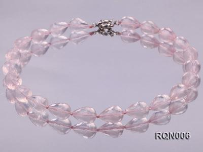 13x18mm Drop-shaped Faceted Rose Quartz Beads Necklace RQN006 Image 1