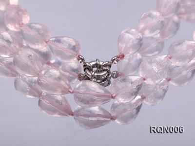 13x18mm Drop-shaped Faceted Rose Quartz Beads Necklace RQN006 Image 3