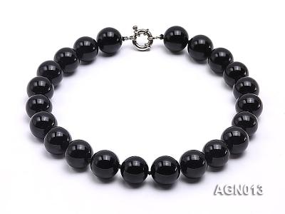 18mm black round agate necklace AGN013 Image 1