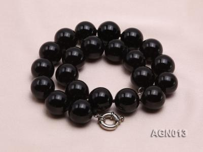 18mm black round agate necklace AGN013 Image 2