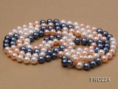 8-9mm multicolor round freshwater pearl necklace FNO224 Image 3
