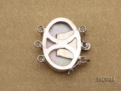 17x23mm Three-Row Sterling Silver Mabe Clasp  MC004 Image 2