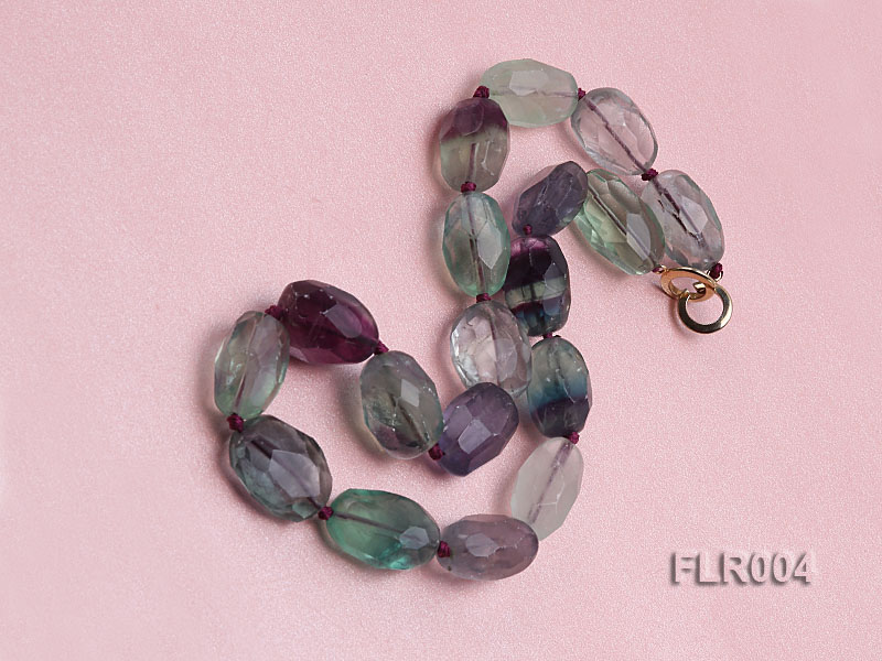 16x25mm Oval Fluorite Beads Necklace big Image 2