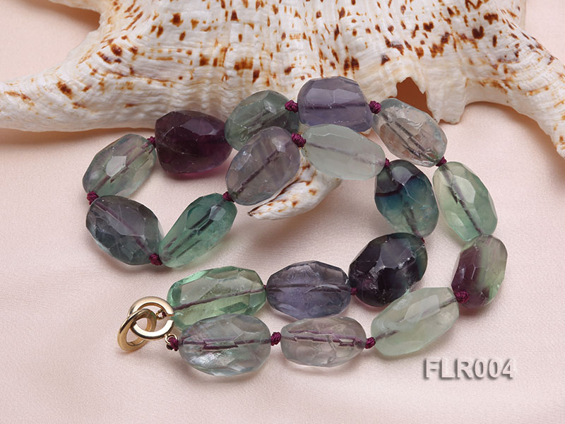 16x25mm Oval Fluorite Beads Necklace big Image 3