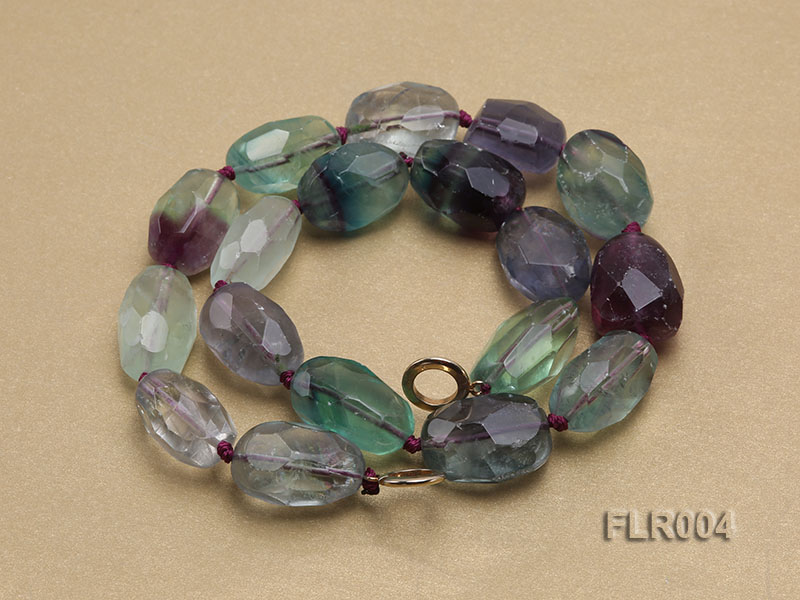 16x25mm Oval Fluorite Beads Necklace big Image 4