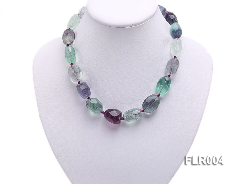 16x25mm Oval Fluorite Beads Necklace big Image 5