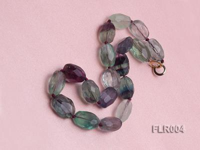 16x25mm Oval Fluorite Beads Necklace FLR004 Image 2