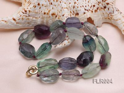 16x25mm Oval Fluorite Beads Necklace FLR004 Image 3