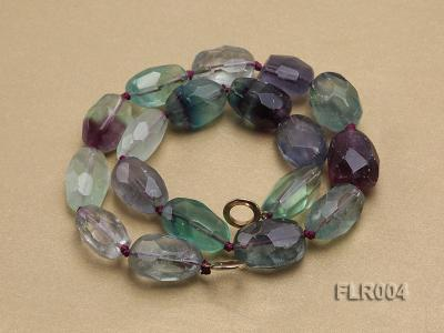 16x25mm Oval Fluorite Beads Necklace FLR004 Image 4