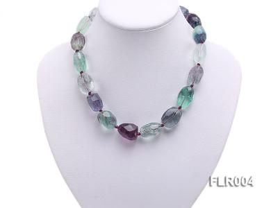 16x25mm Oval Fluorite Beads Necklace FLR004 Image 5