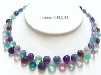 9x11mm colorful drop-shaped fluorite necklace FLR011
