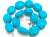27x30mm blue oval faceted Turquoise Necklace TQN001