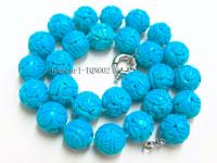 14-15mm blue round faceted Turquoise Necklace TQN002