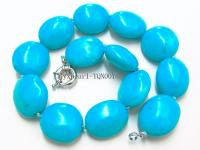 25x30mm blue oval Turquoise Necklace TQN007