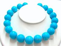 20mm blue round Turquoise Necklace TQN010