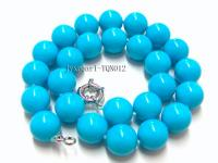 16mm blue round Turquoise Necklace TQN012
