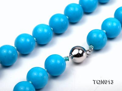 12mm vibrant blue round Turquoise Necklace TQN013 Image 3