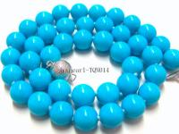 10mm blue round Turquoise Necklace TQN014