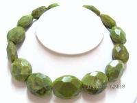 25x30mm light yellowish green faceted turquoise Necklace TQN018