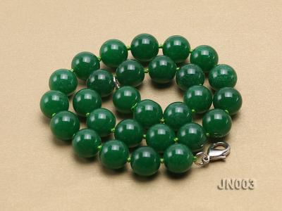 14mm Round Green Malay Jade Necklace JN003 Image 4