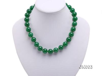 14mm Round Green Malay Jade Necklace JN003 Image 5