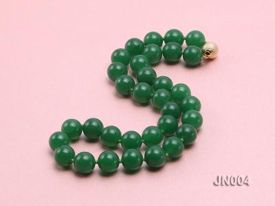 12mm Round Green Malay Jade Necklace JN004 Image 2