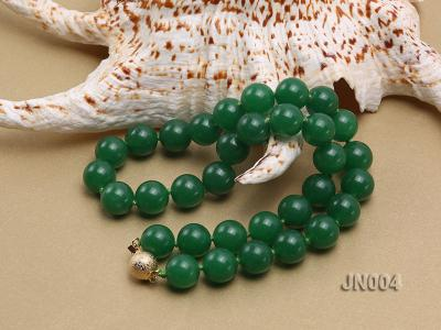 12mm Round Green Malay Jade Necklace JN004 Image 3