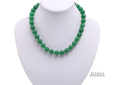 12mm Round Green Malay Jade Necklace JN004 Image 5