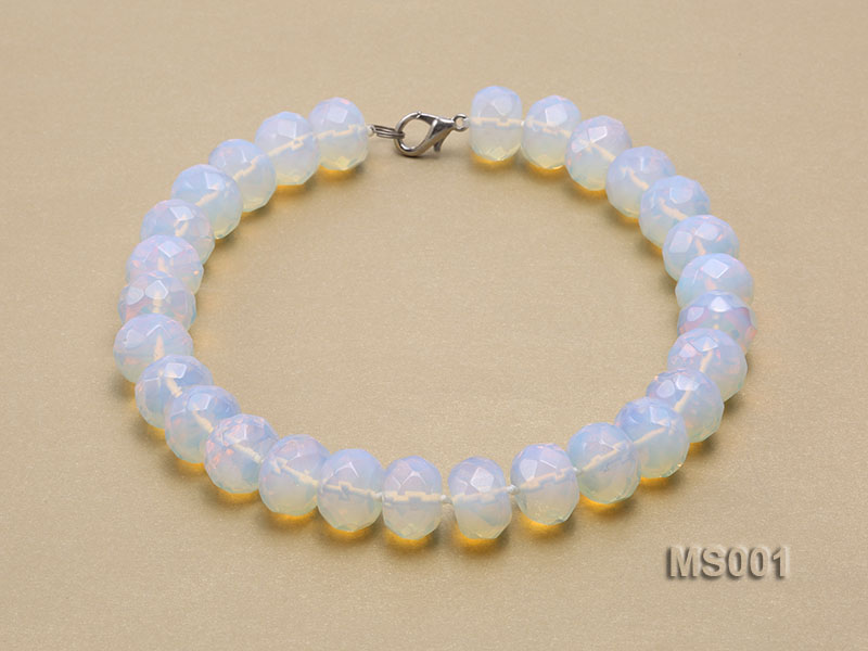 14x20mm Flat Opalescent Moonstone Beads Necklace big Image 2