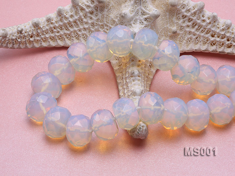 14x20mm Flat Opalescent Moonstone Beads Necklace big Image 5