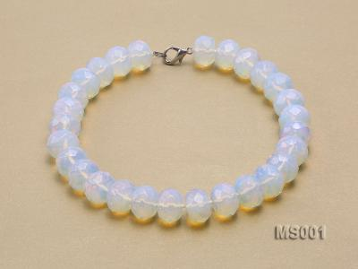 14x20mm Flat Opalescent Moonstone Beads Necklace MS001 Image 2