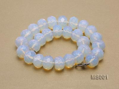 14x20mm Flat Opalescent Moonstone Beads Necklace MS001 Image 3